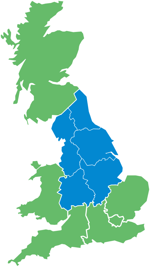 map asbestos services and commercial epc coverage - Lancashire and Yorkshire